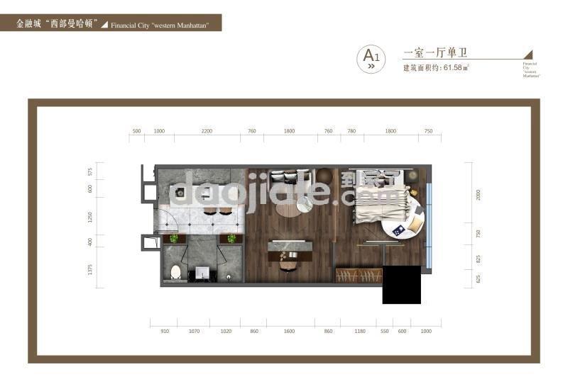 高新南区金融城新房高盛公馆新房A1户型图