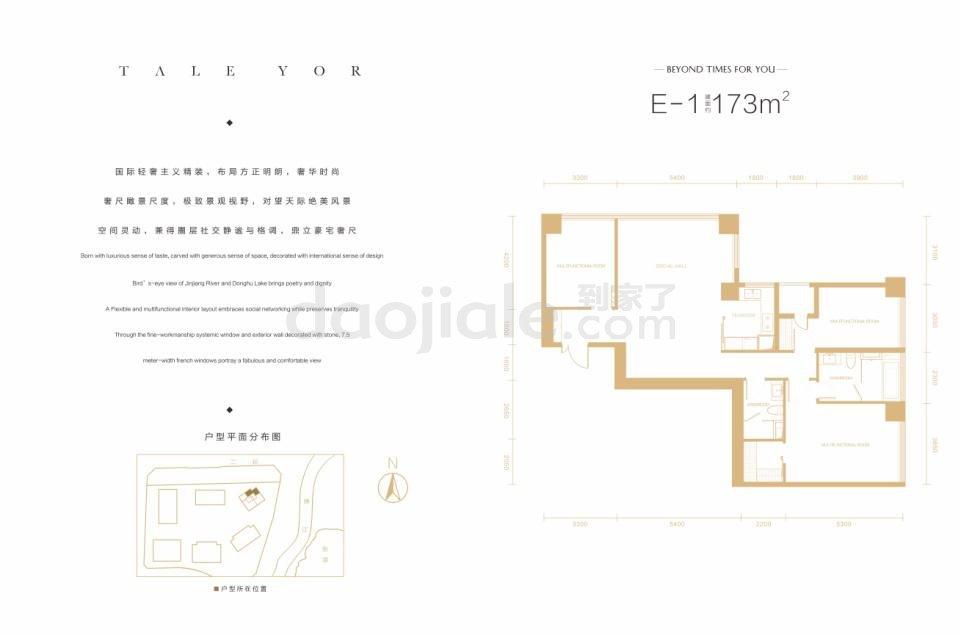 锦江区琉璃场保利天悦新房E1户型图