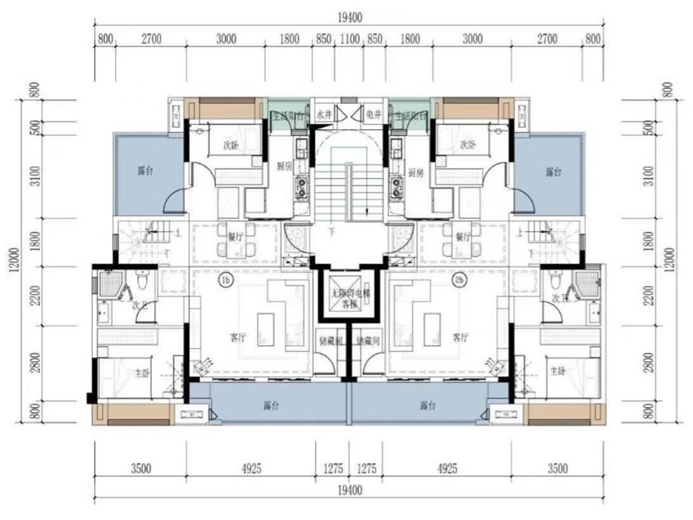 璧山区璧山高新区美的万麓府新房D户型户型图