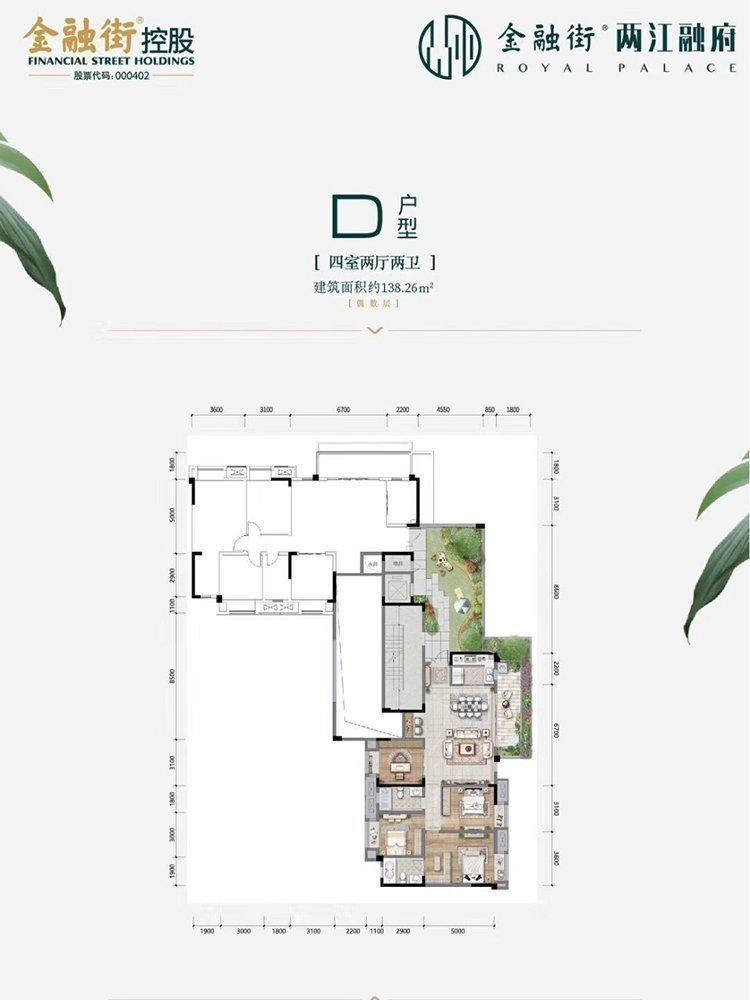 北碚区水土金融街两江融府新房D户型图