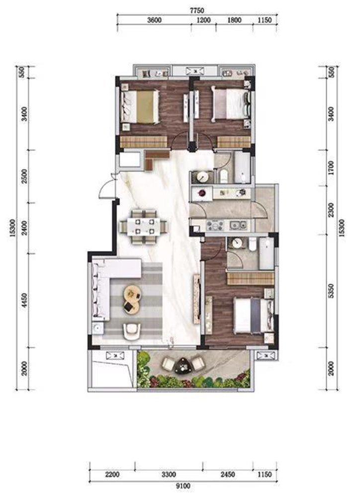 沙坪坝区歌乐山山城小院新房C4-5户型图