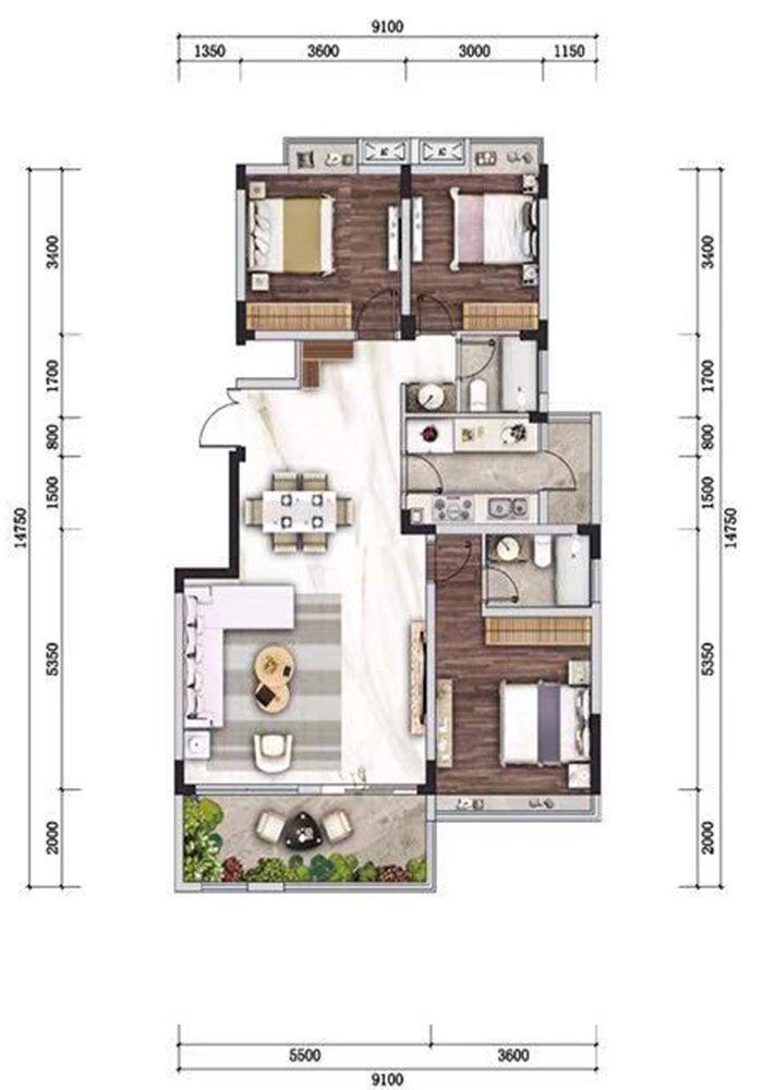 沙坪坝区歌乐山山城小院新房C6户型图