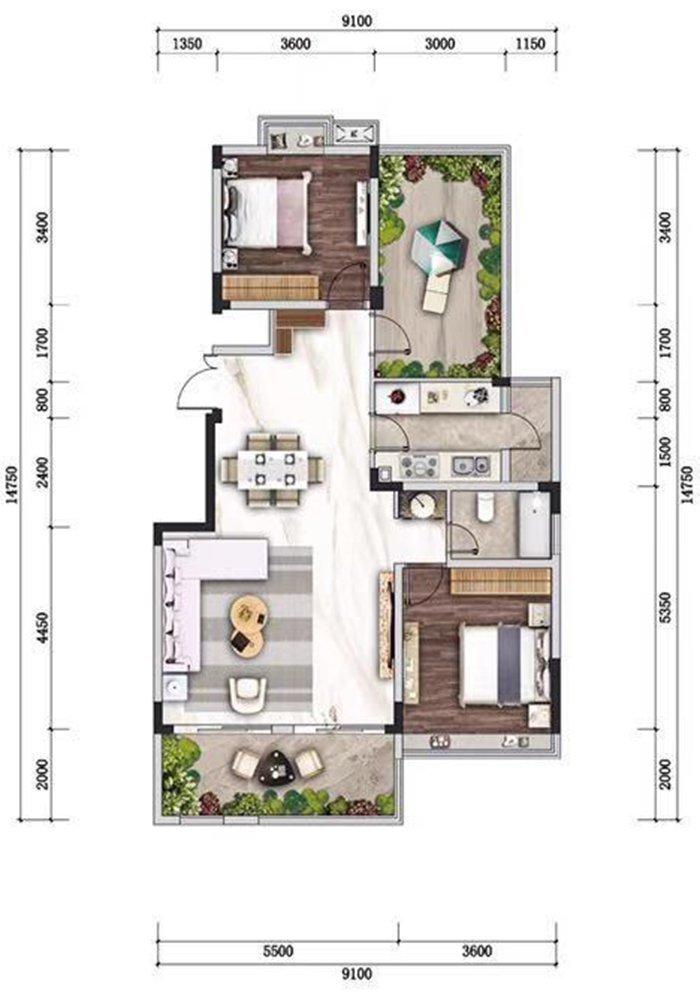 沙坪坝区歌乐山山城小院新房C7户型图