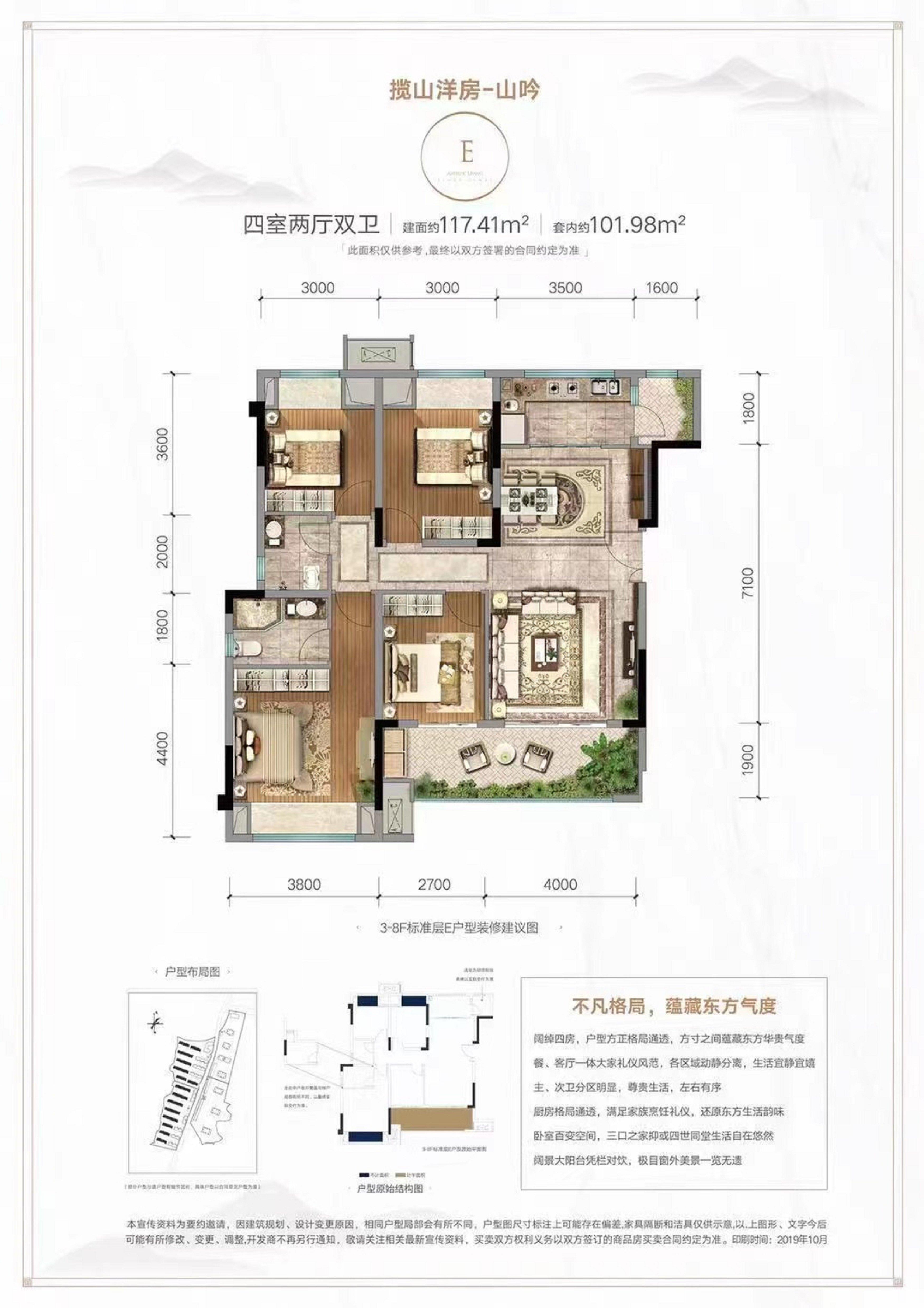 江津区双福片区金科集美东方新房E户型户型图