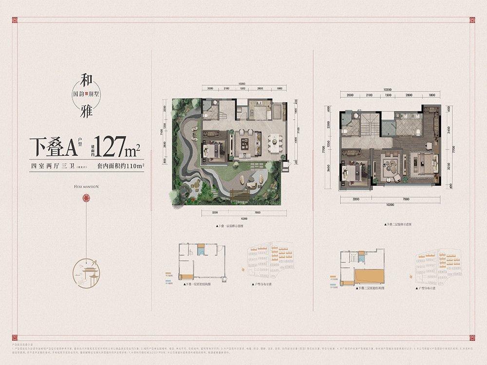 北碚区蔡家建发和玺新房下叠A户型图