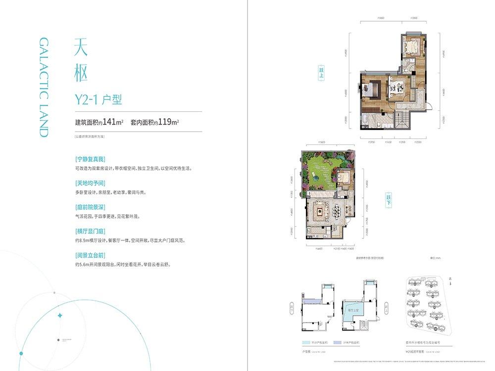 北碚区蔡家雅居乐星瀚雅府新房Y2-1户型户型图