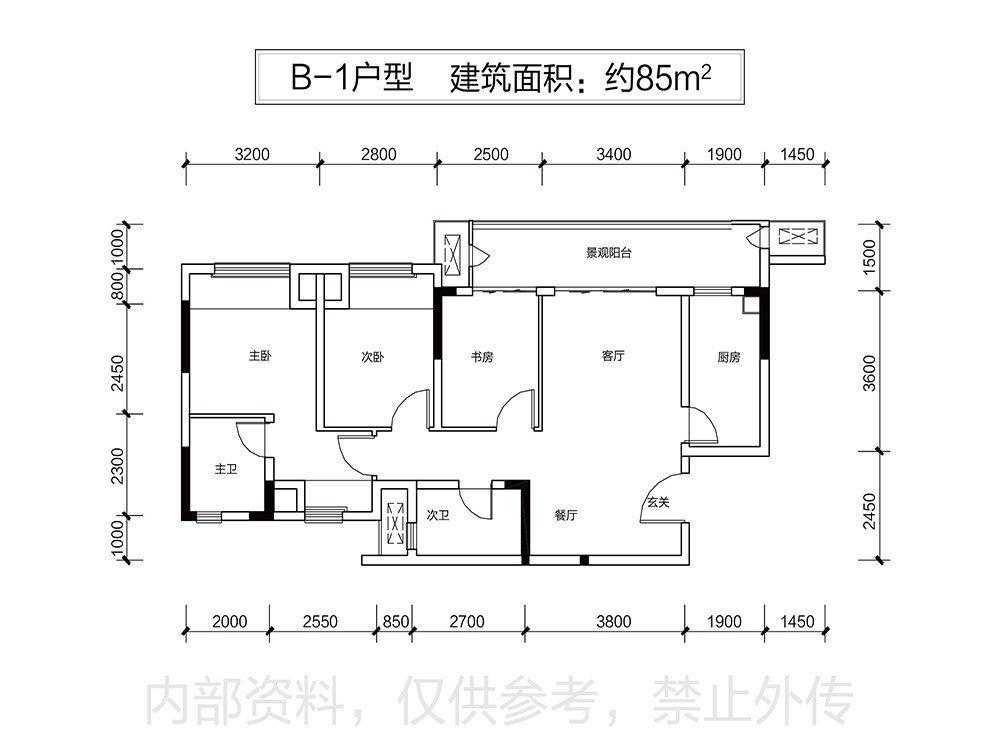 江津区双福片区融耀城新房B-1户型户型图