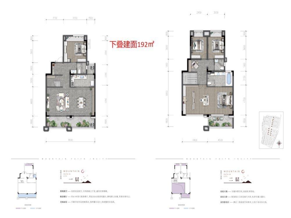南岸区黄角桠山与城新房B1户型图