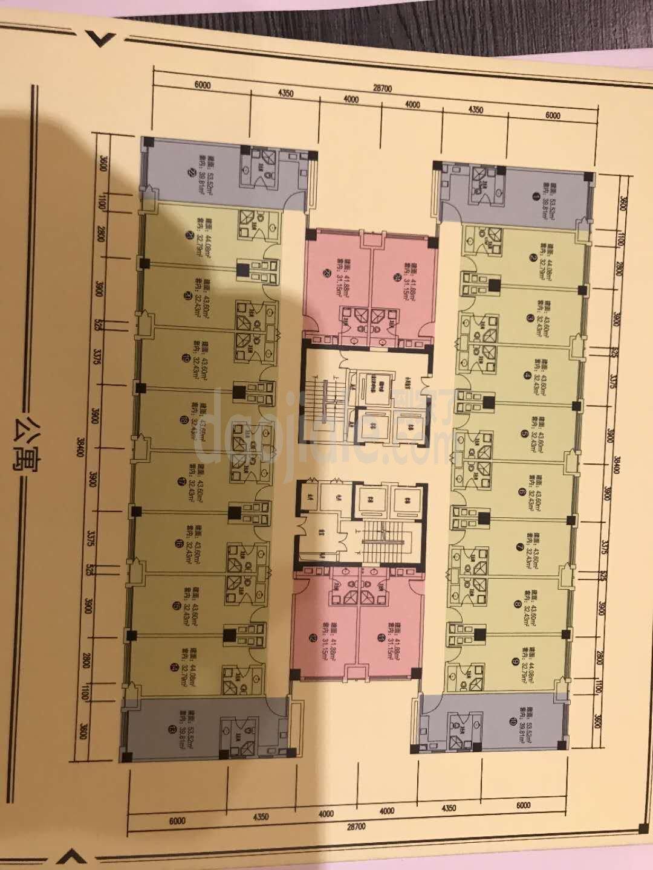 九龙坡区石桥铺江厦星光汇新房3号楼户型图