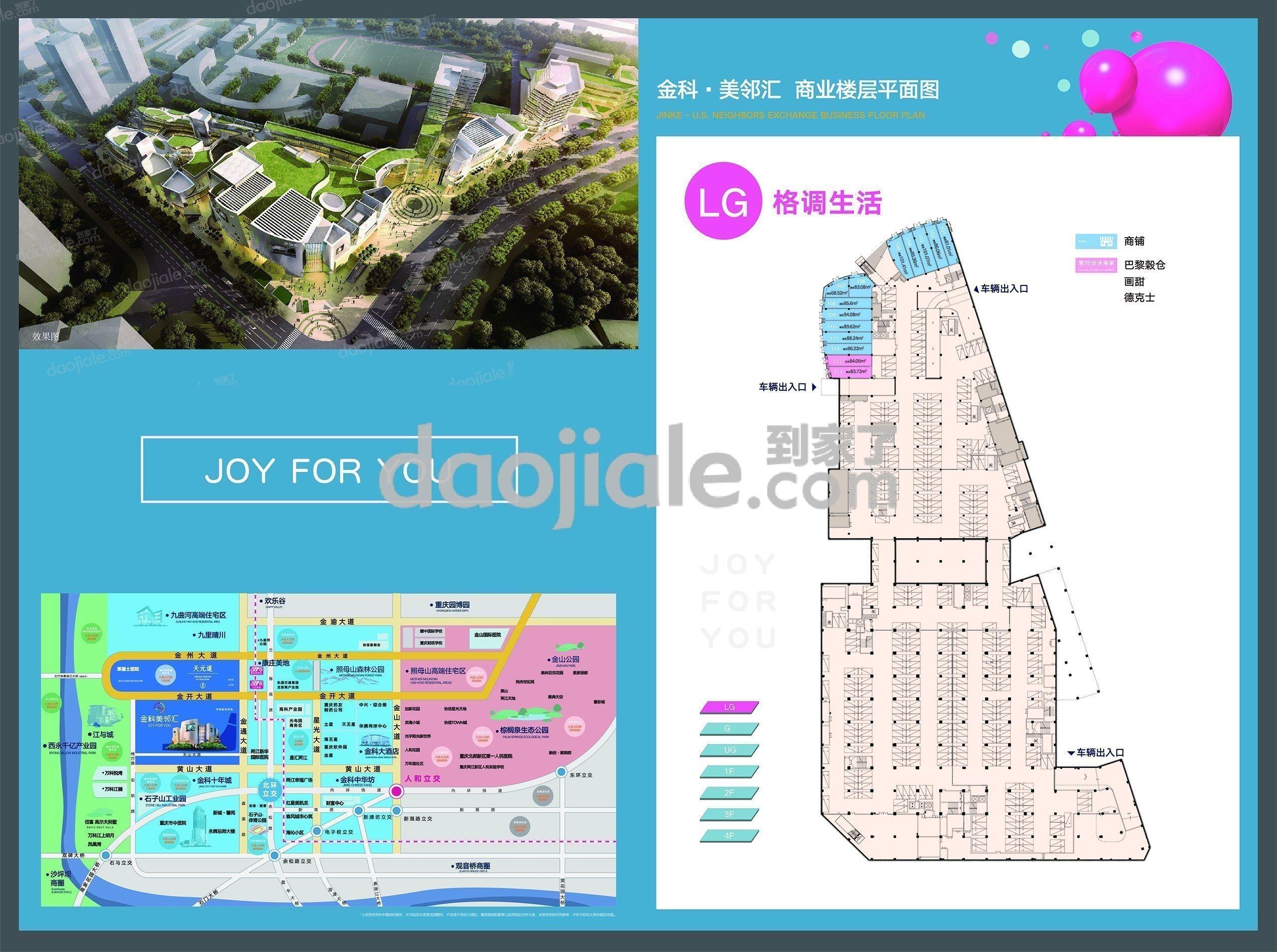 渝北区大竹林金科天元道新房LG户型户型图