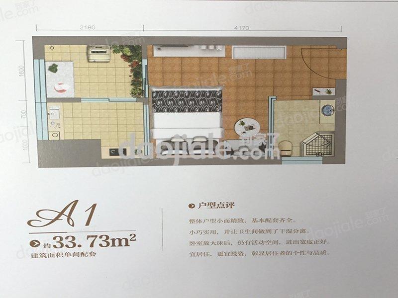 江津区双福片区津北新都会新房A1户型户型图