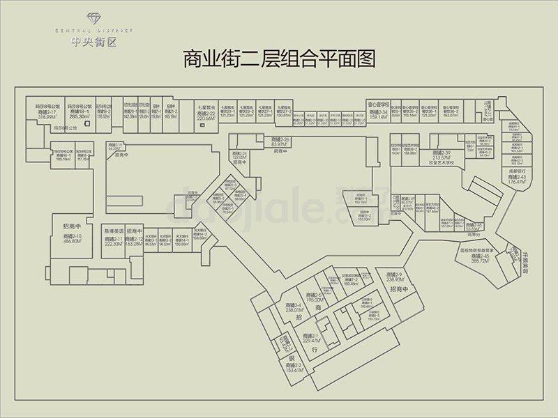 九龙坡区巴国城千叶中央街区新房二层户型图