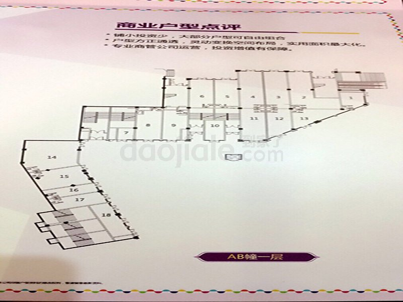 江津区东部新城艾坪山1号新房AB幢户型图