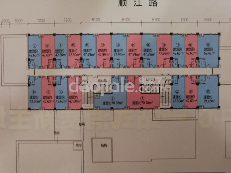 江津区双福片区锦绣华城新房公寓A/B户型户型图