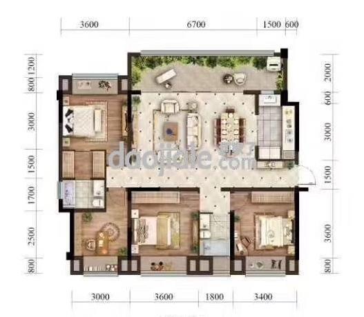 渝北区悦来北京城建龙樾生态城新房小高层E2户型户型图