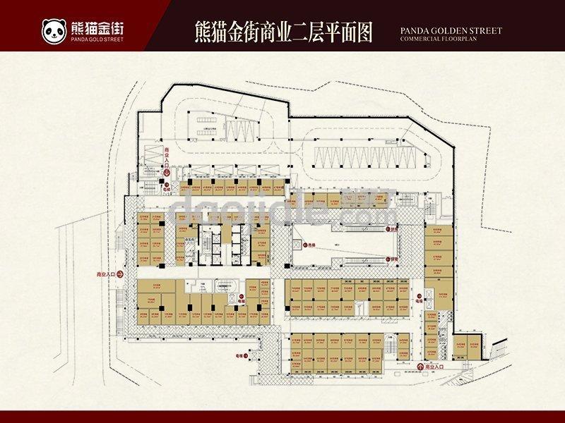 渝中区较场口熊猫公馆新房商业二层户型图