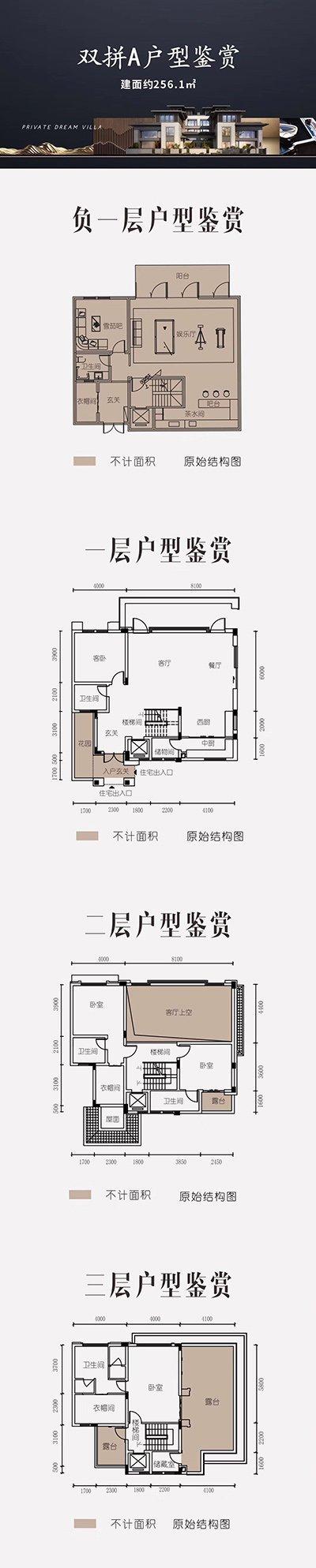 九龙坡区白市驿上邦高尔夫国际社区新房双拼A户型户型图
