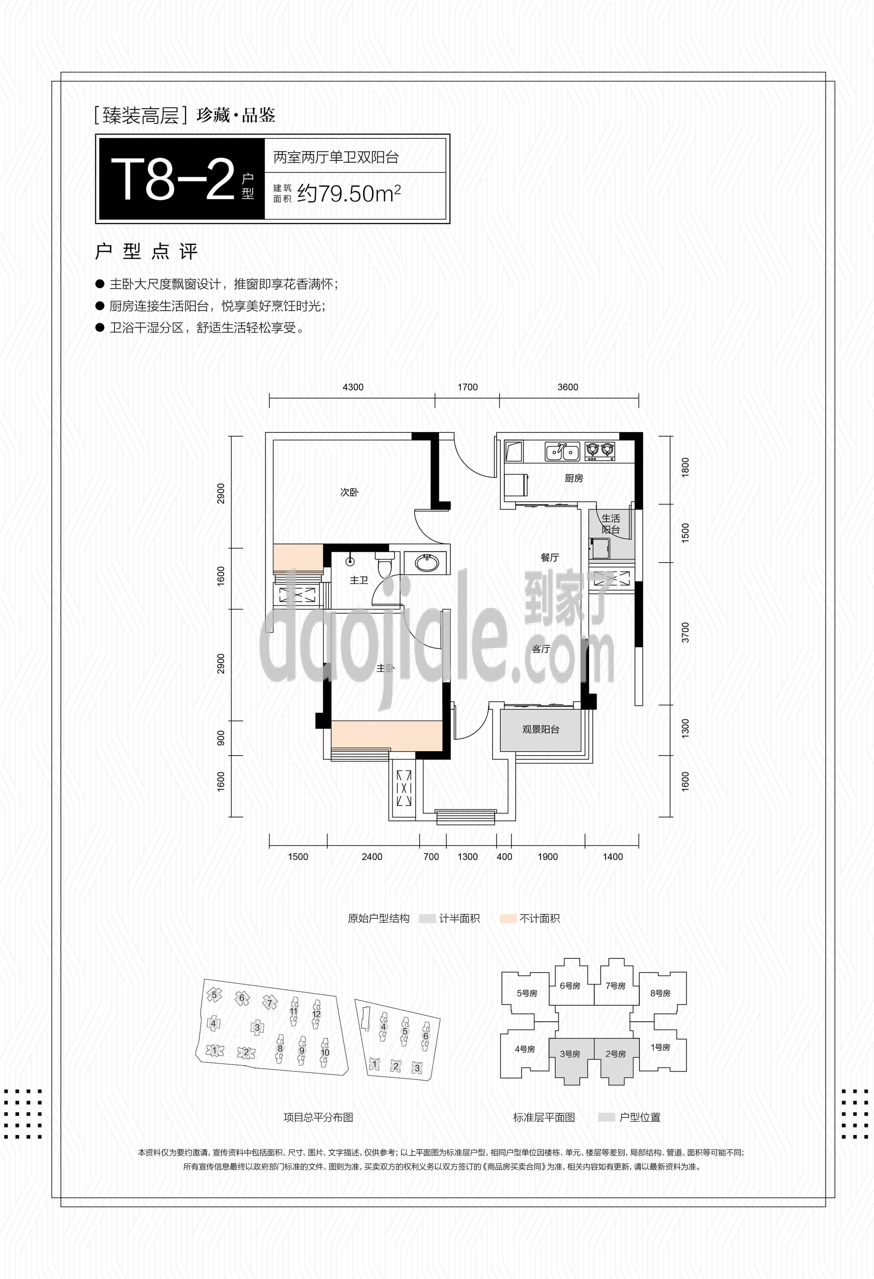 巴南区龙洲湾和泓文华府新房T8-2户型图