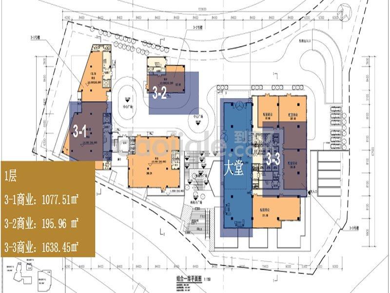 江北区观音桥绿地海外滩新房商业户型图