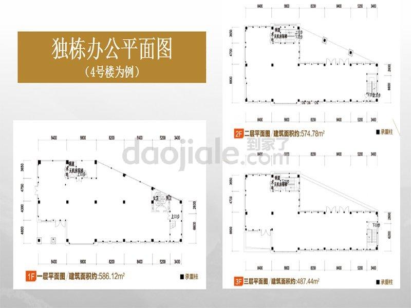 江北区观音桥绿地海外滩新房独栋商业户型图