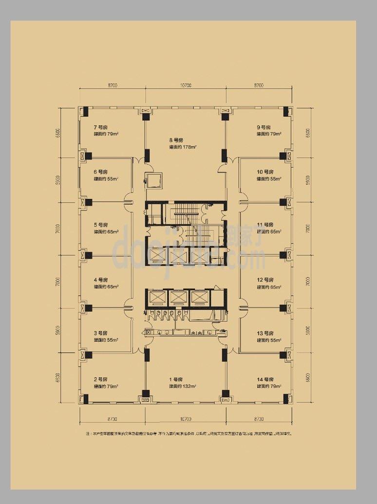 九龙坡区杨家坪保利时代广场新房公寓户型图