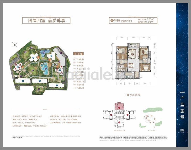 九龙坡区巴国城中海九龙天颂新房5号楼户型图