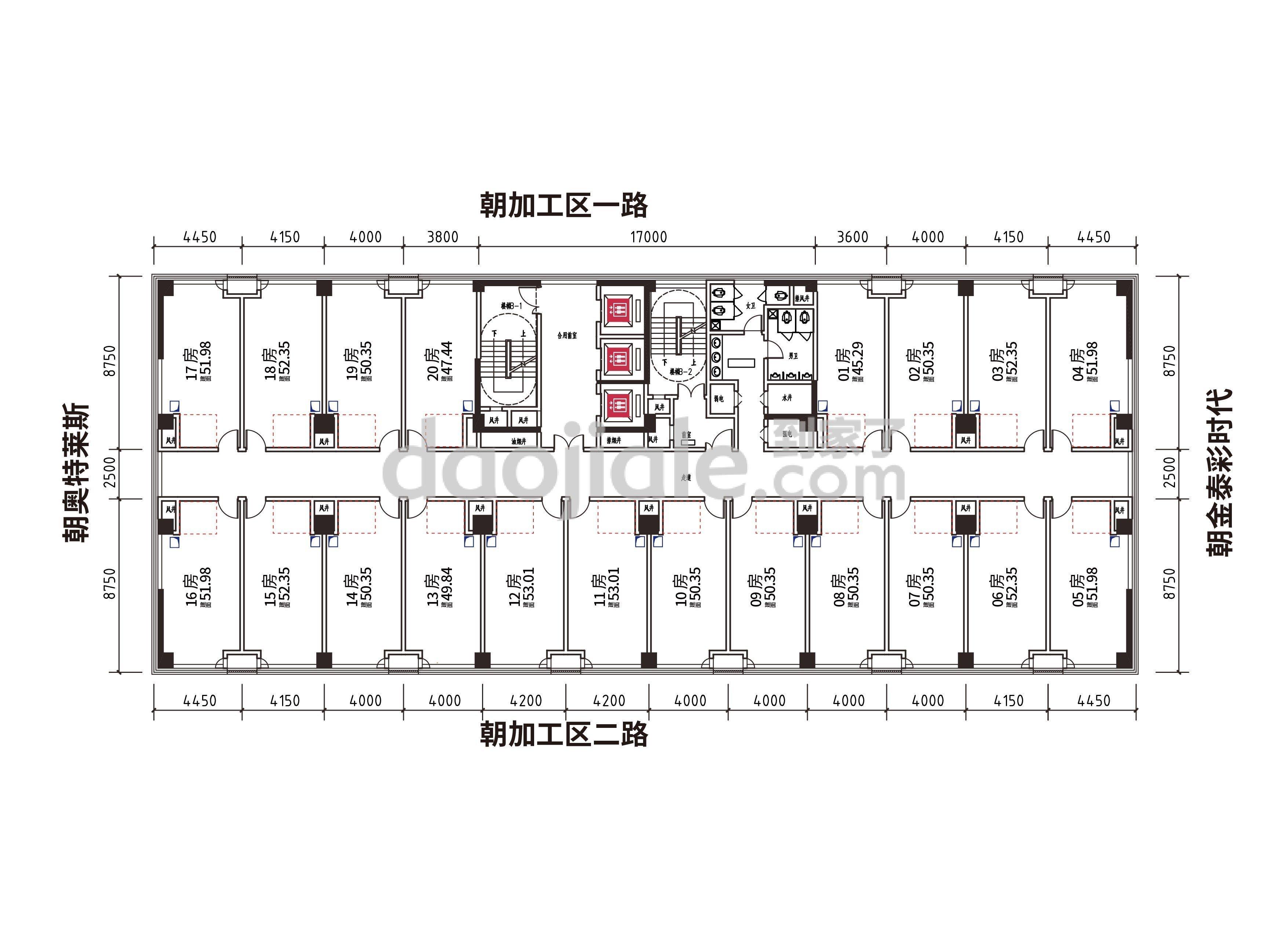 渝北区汽博中心两江中迪广场新房4、5、16、17号户型户型图