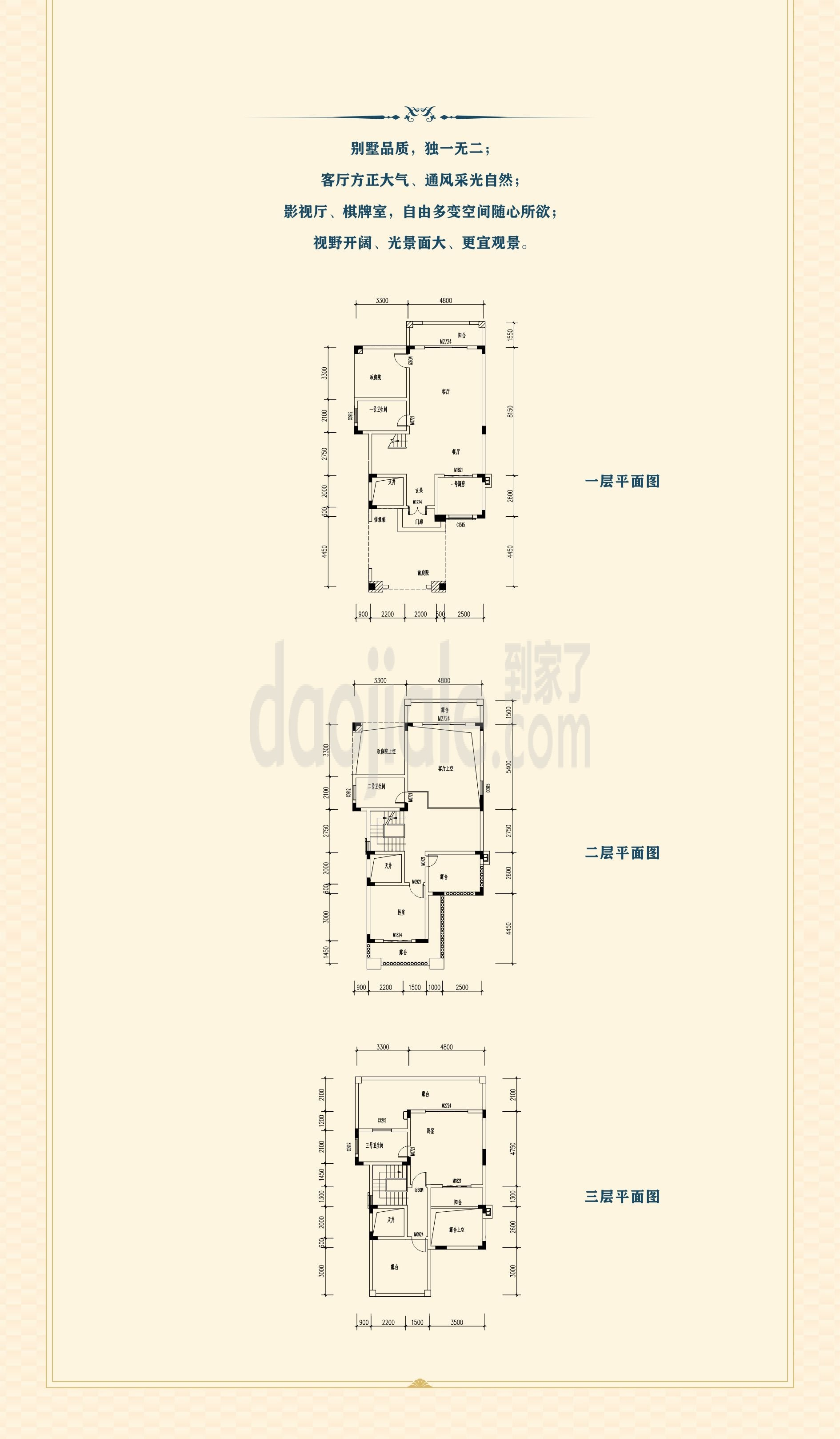 江津区东部新城祥豪维多利亚港湾新房类独栋户型图