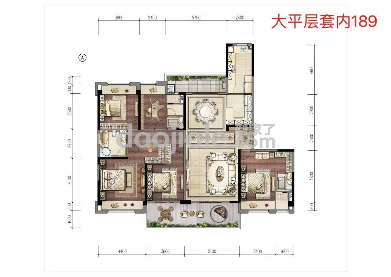 渝北区照母山碧桂园中俊天玺新房大平层户型户型图