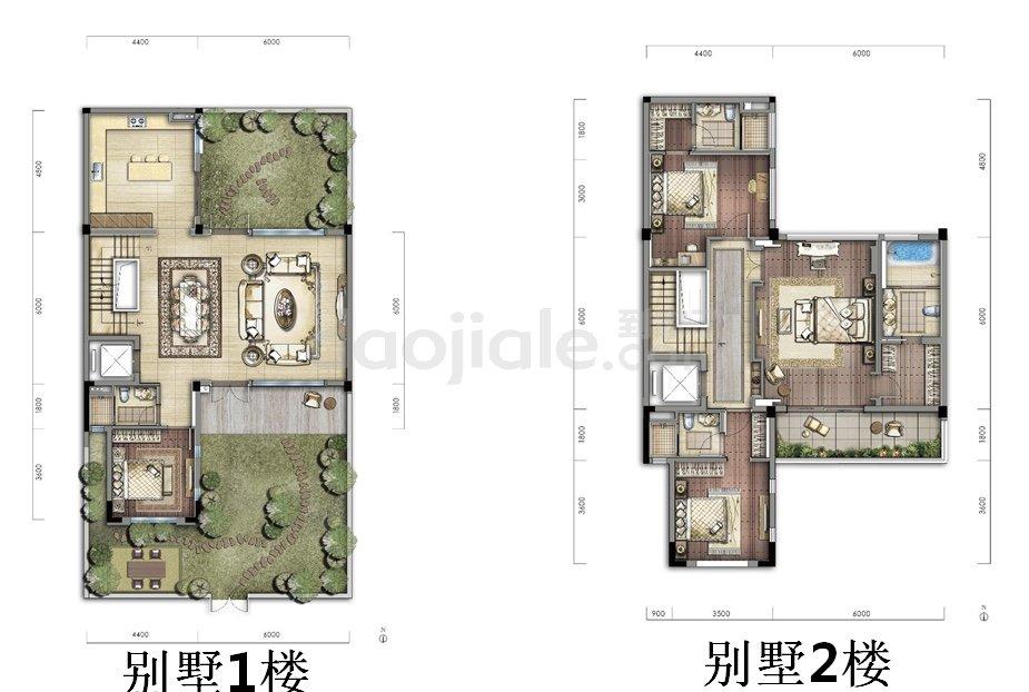 渝北区照母山碧桂园中俊天玺新房东方合院户型图