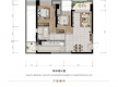 渝北区加州新牌坊恒大天玺新房305号房户型图