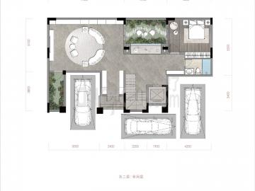 渝北区礼嘉金融街嘉粼融府新房合院负二层户型图