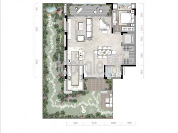 渝北区礼嘉金融街嘉粼融府新房下叠一层户型图
