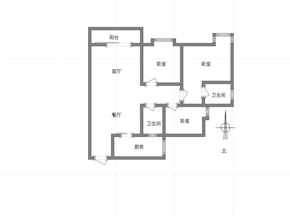 双碑 阳光城翡丽公园三房170万二手房户型图