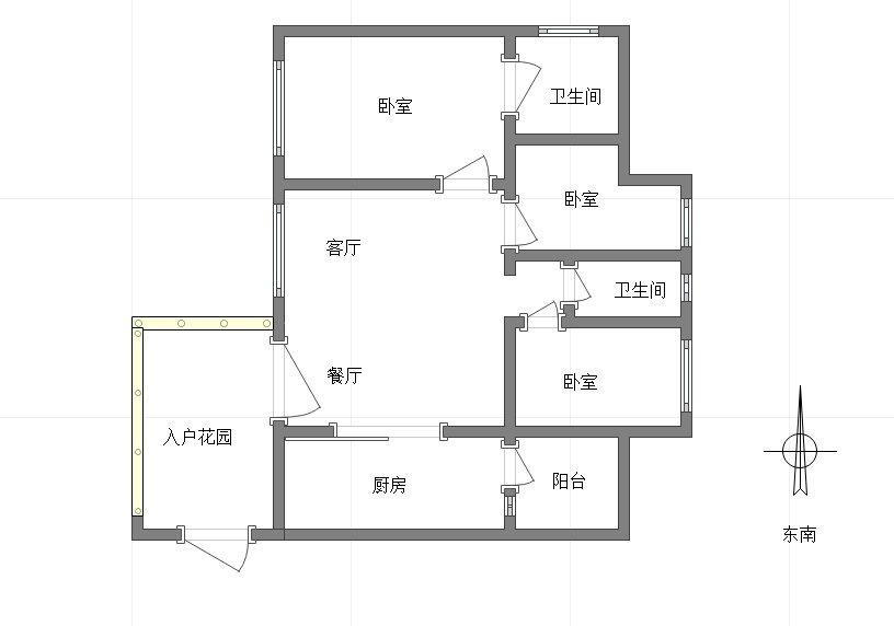 钓鱼嘴半岛 佳兆业滨江新城江城时光三房108万二手房户型图
