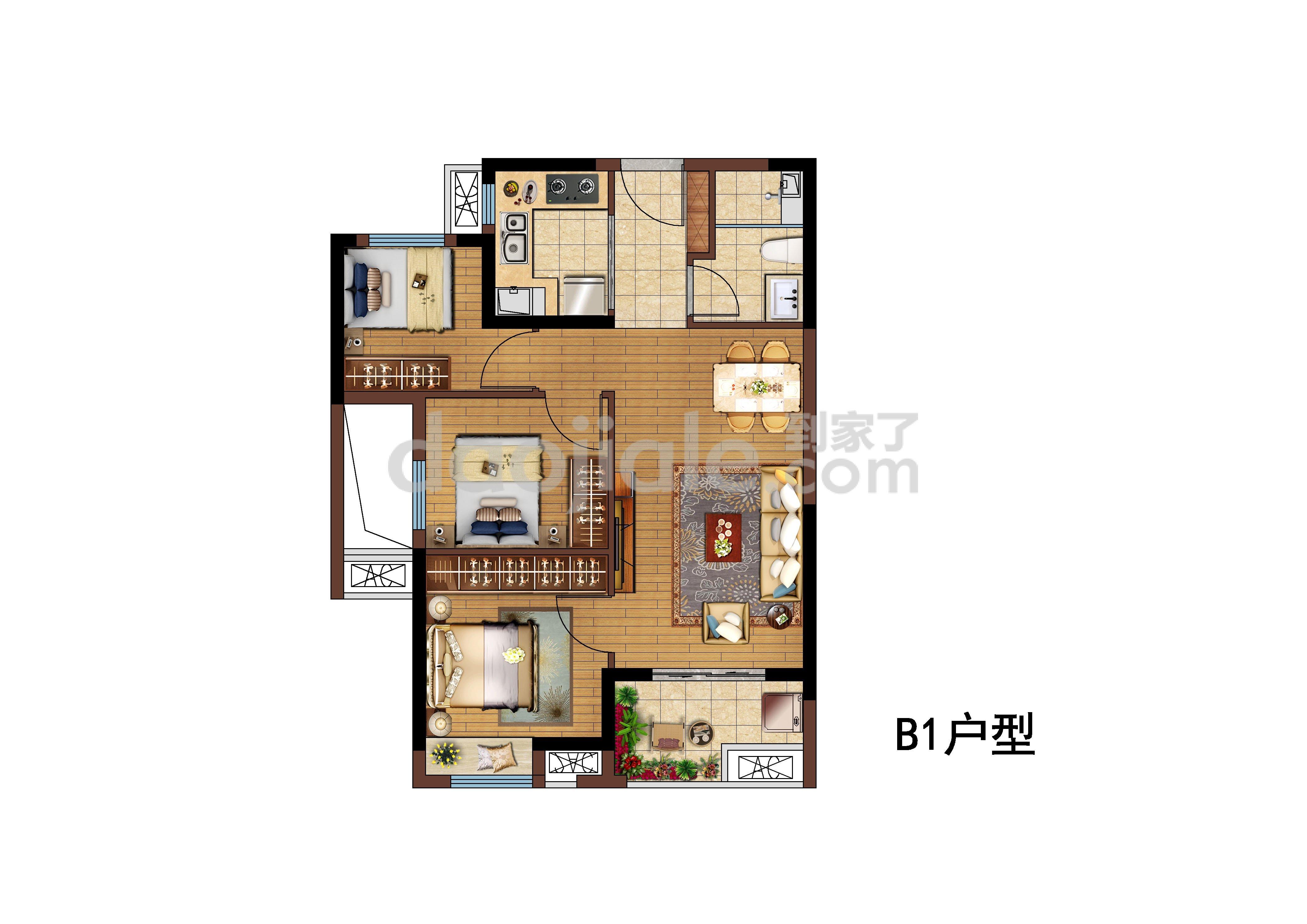 晋安区五四北天空之城新房B1户型户型图